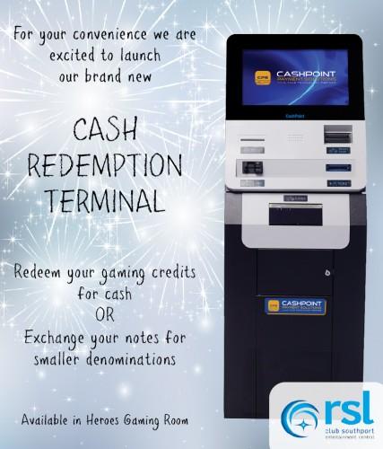 Cash Redemption Terminal