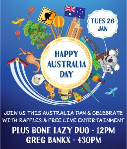 Australia Day at RSL Club Southport. Call 07 5552 4200 for more information