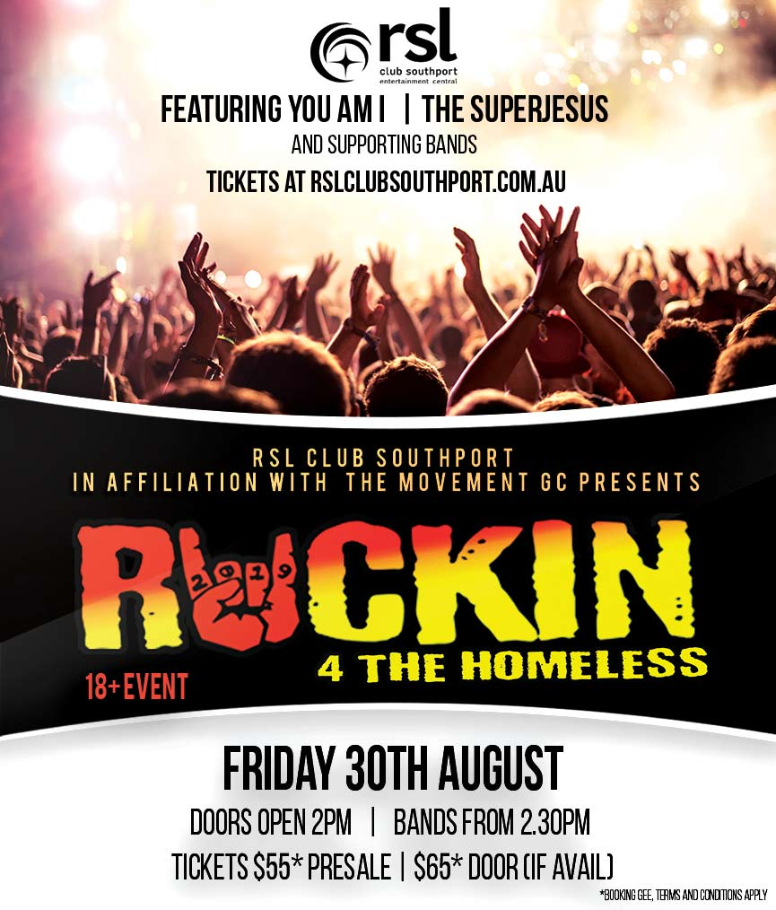 Rockin 4 the homeless friday 30 aug
